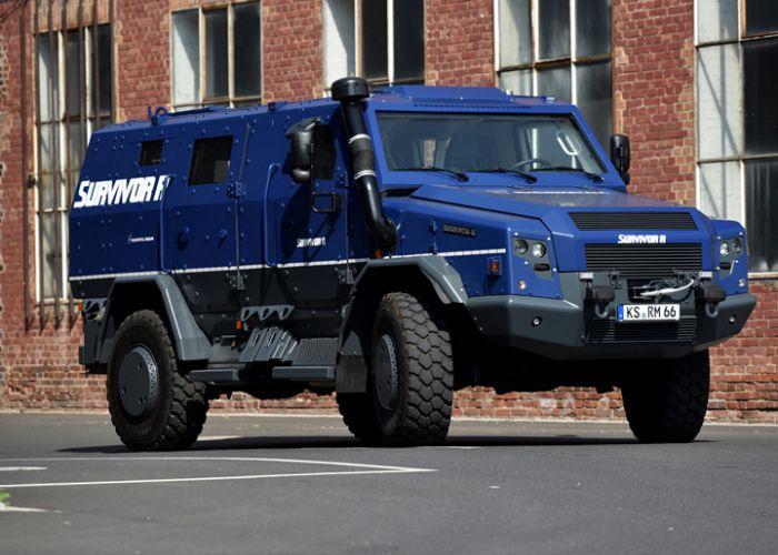 Rheinmetall zeigt Sonderwagen Survivor R auf der internationalen Sicherheitsfachmesse GPEC 2020 in Frankfurt/Main